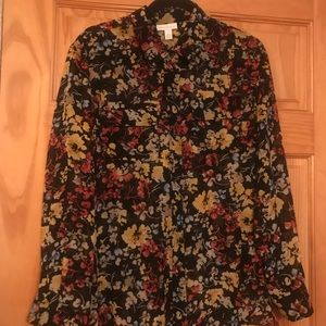 Charter Club floral blouse
